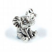 Baby Elephant 3D Sterling Silver Charm